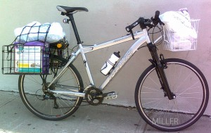 Grocery Getter bicycle loaded