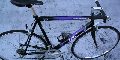 1992 Cannondale C600 Criterium racing frame - Apply power here.