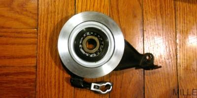 Inside view of Shimano Nexus hub roller brake