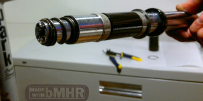 photo of Another view of the spring lower shock absorber parts inside bicycle shocks FSX -- bMHR