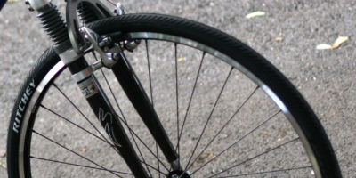 In the wild: street bicycle air fork, Specialized Rock Shox FSX with carbon fiber tubes. Super fine.